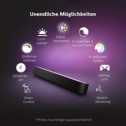 Philips Hue White and Color Ambiance Play Lightbar Doppelpack - 3